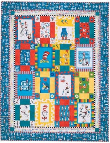 Dr. Seuss Cat in the Hat Baby Crib Toddler Bed Quilt Pattern ... : toddler bed quilt pattern - Adamdwight.com