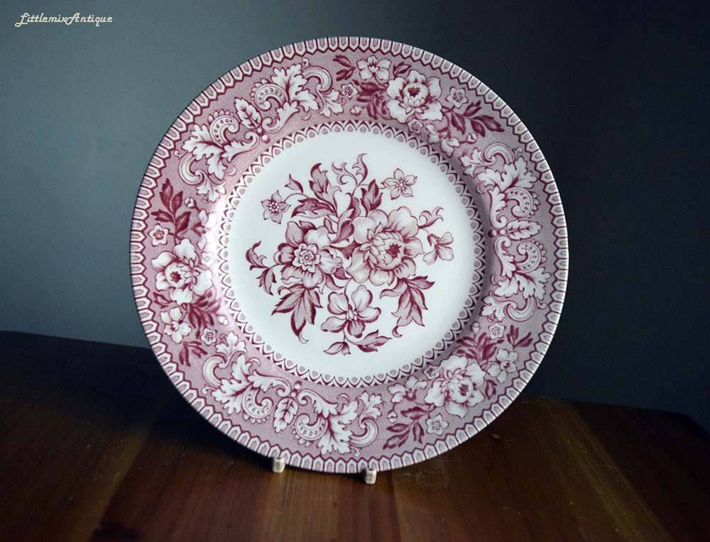 Vintage Westminster By Wood Sons Made In England Classic Pink Transferware Floral Design Lunch Bread Salad Plate Retro Engli Transferware Floral Design Vintage