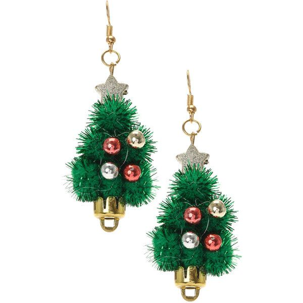 Pom Pom Christmas Tree Drop Earrings, Shop £3 or Less, What's New ...