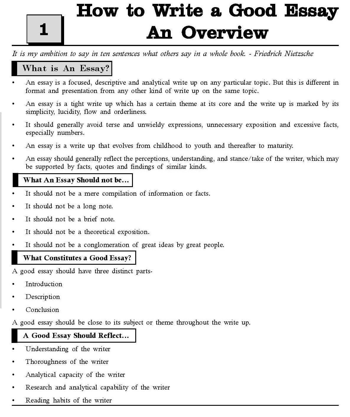 What is order in essay writing