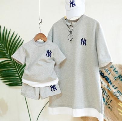 여름아동복 유아상하복세트 아기 남아 여아 상하복 여름엔상하세트 패밀리룩 상하세트 스웨트 셔츠 아기