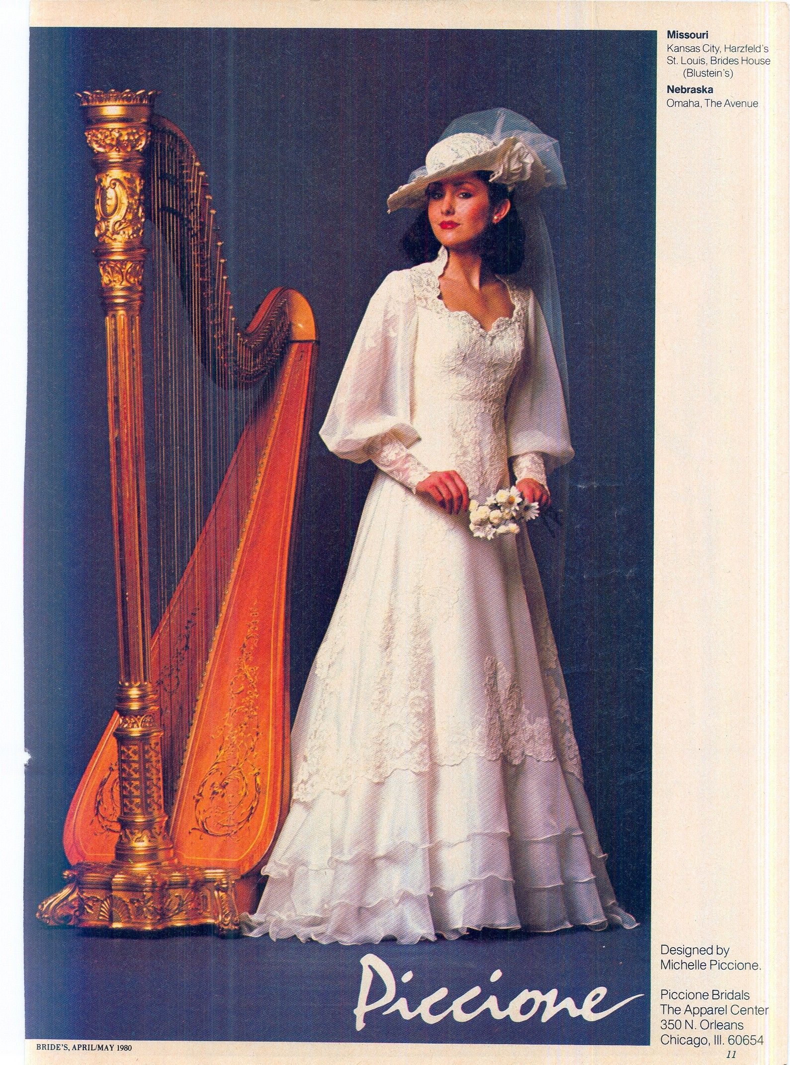 Brides Magazine April May 1980 | 1980's wedding dress in ...