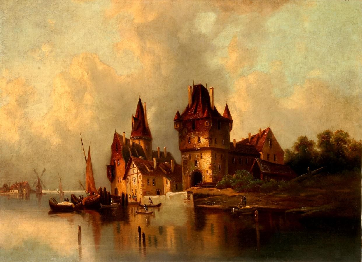 dutch 18th century painting | Architecture in a painting: view of