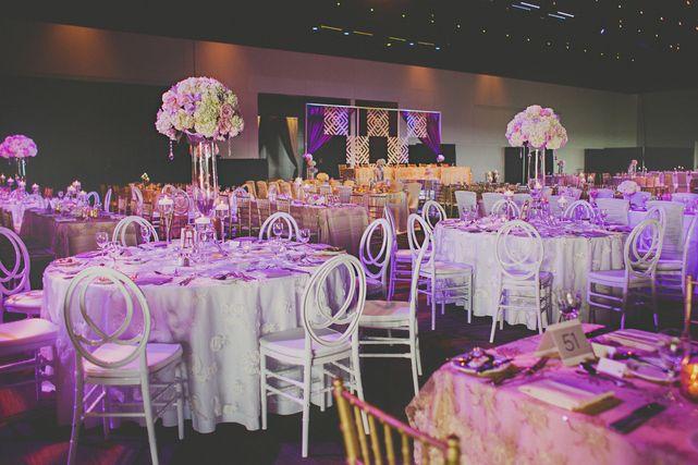 Anita Ben Lavish Edmonton Wedding Wedding Reception Wedding Decor Lavish Decor Centerpieces Purple Decor Edmonton Wedding Wedding Featured Wedding
