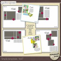 Simple Digital Scrapbook templates Vol.7. $2.69 at Gotta Pixel. www.gottapixel.net/