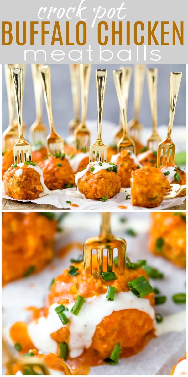 Crockpot Buffalo Chicken Meatballs | The Best Crockpot Meatballs!