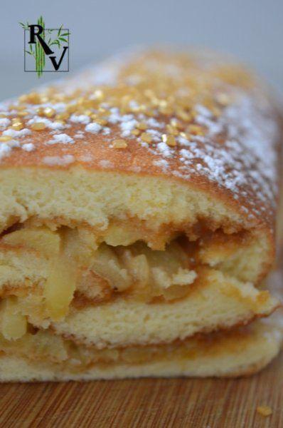 Roulé - Bûche au Caramel & Pommes