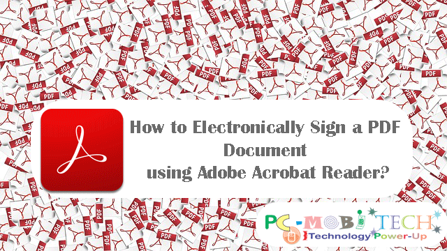 How to Electronically Sign a PDF Document using Adobe