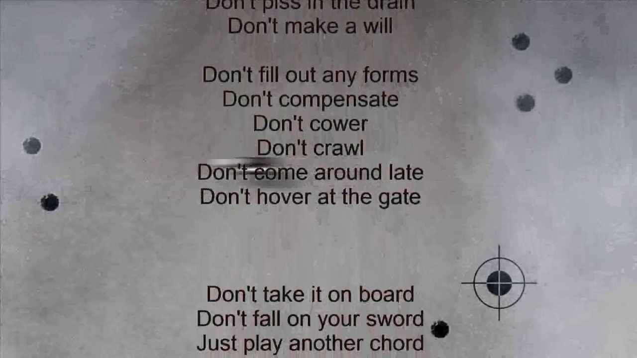 Words that paint a picture ~ U2 NUMB lyrics HD | Song Lyrics