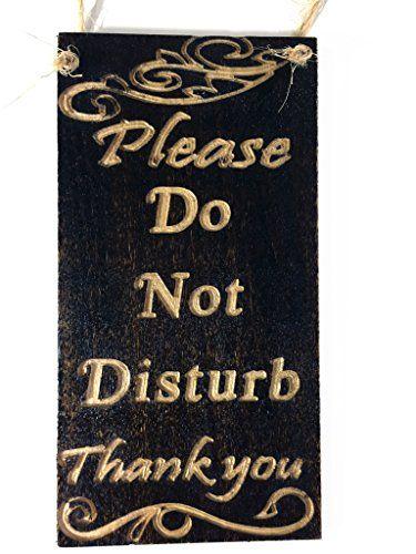 Sign Do Not Disturb Door Hanger Knob wooden Warning Room Session