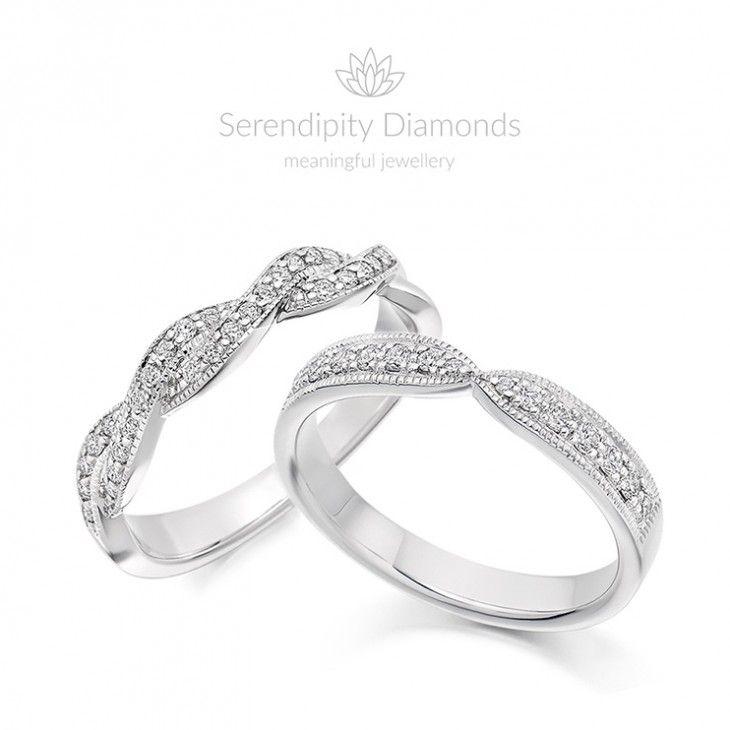 Vintage Diamond Eternity Rings Ribbons and Twists Vintage