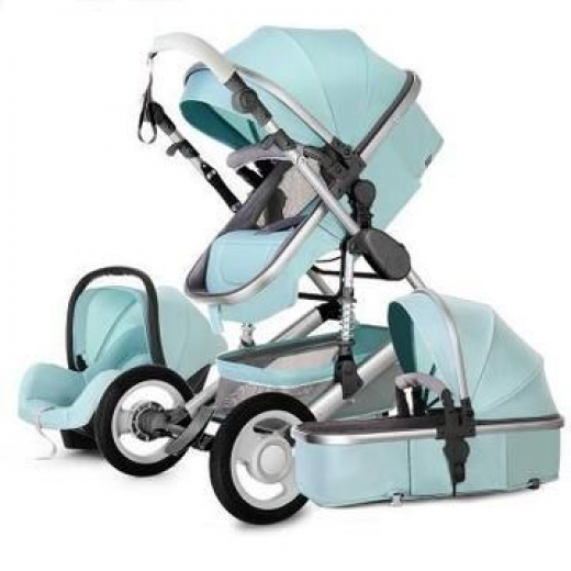 European 3 in 1 Baby Strollers with baby basket and