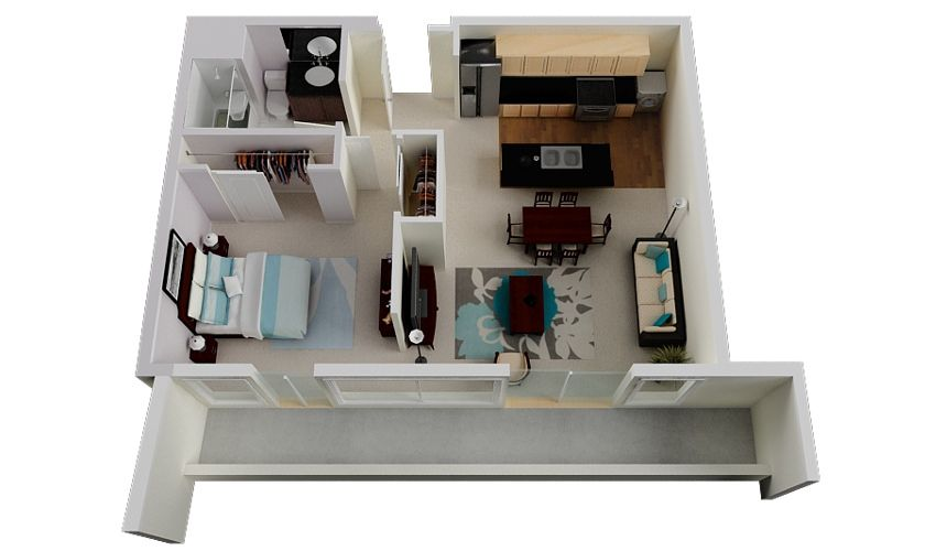 50 One 1 Bedroom Apartment House Plans One Bedroom House Luxury Floor Plans One Bedroom House Plans