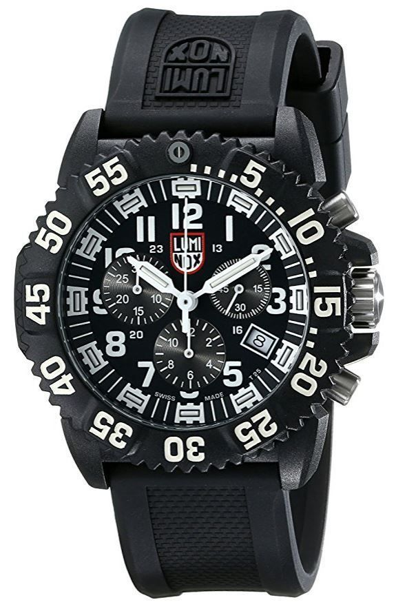 0c5f57eafc9 Luminox New 3081 Navy Seal Colormark Chronograph Black Rubber Mens Watch  A.3081. Product sold by eBay