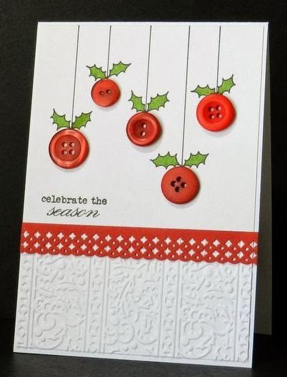 Siete dise os de tarjetas f ciles para esta navidad - Tarjetas de navidad faciles ...