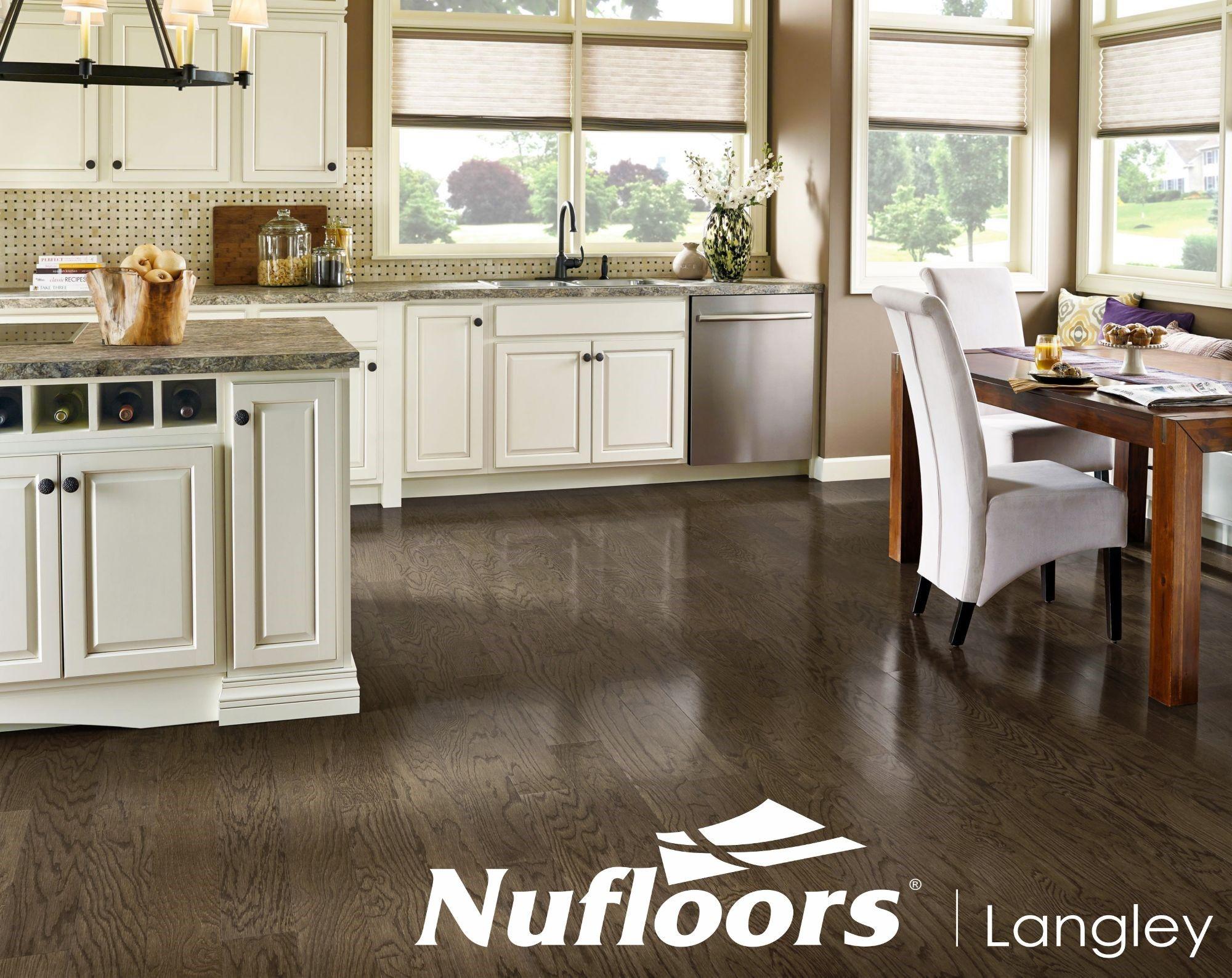 oceanside grayarmstrong  hardwood floors in kitchen