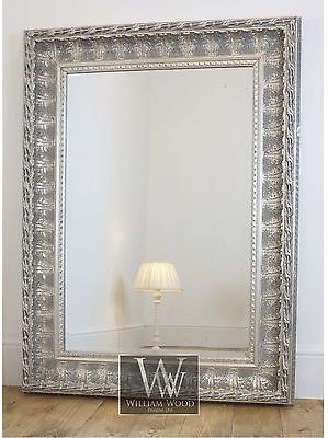 Alderley Silver Ornate Rectangle Vintage Wall Mirror 60 X 48 X