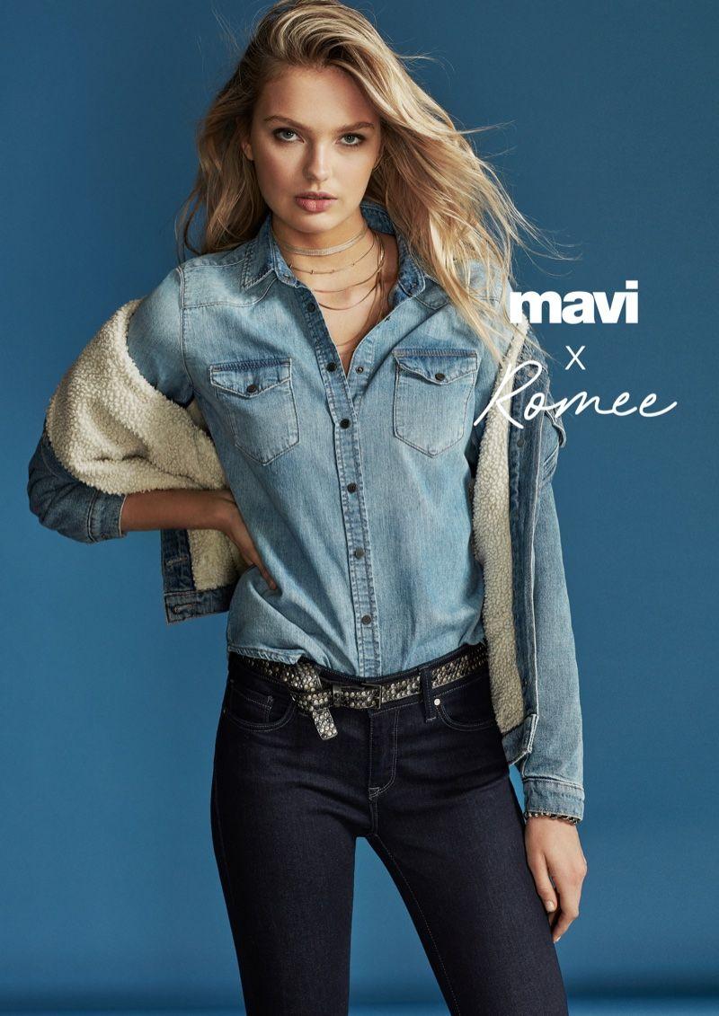 0332c6ff19a72d Romee Strijd Is Denim Clad for Mavi Fall 2018 Campaign | Fashion ...