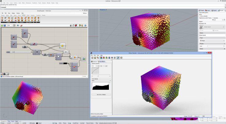 Grasshopper geometry in rhino rendering parametric for Polygon produktdesign