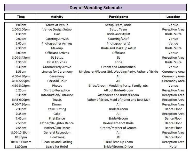 wedding day schedule template best 25 wedding timeline template