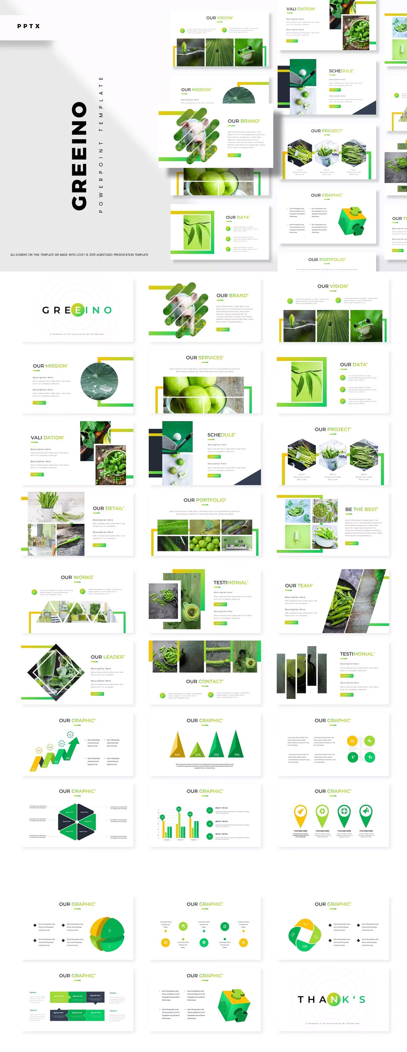 Greeino - Powerpoint Presentation Template