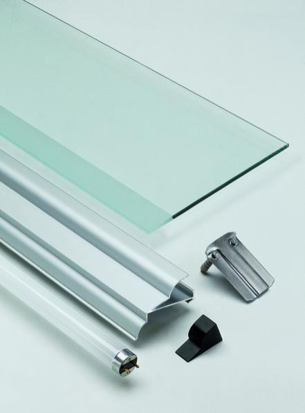 Tag re murale contemporaine en aluminium en verre - Etagere murale en verre design ...