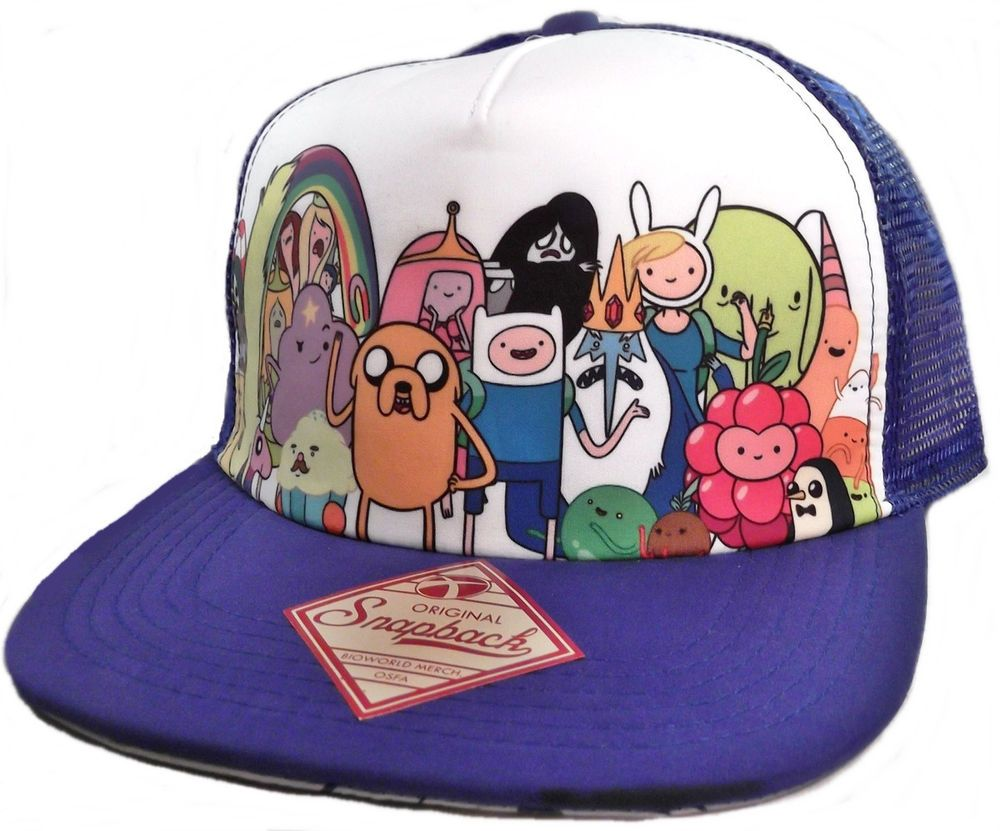 d7ee4293125 ADVENTURE TIME with Finn   Jake ALL CHARACTERS Snapback Mesh Baseball CAP   HAT  BaseballCap