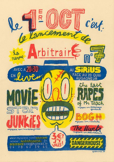 Risograph poster print by Vincent Pianina.