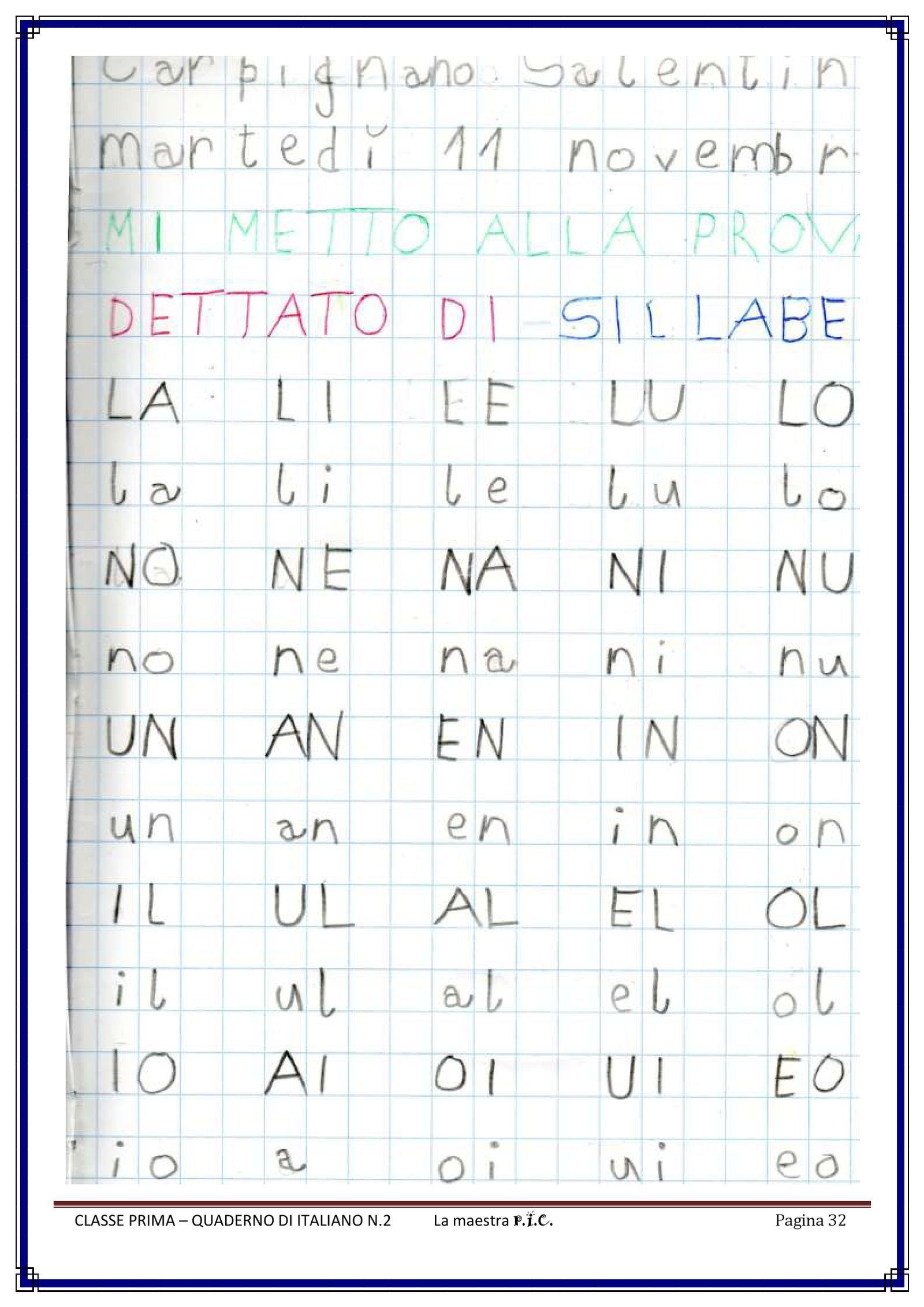 Il Mio Quaderno Di Italiano Pdf To Flipbook Schede Prima Elementare