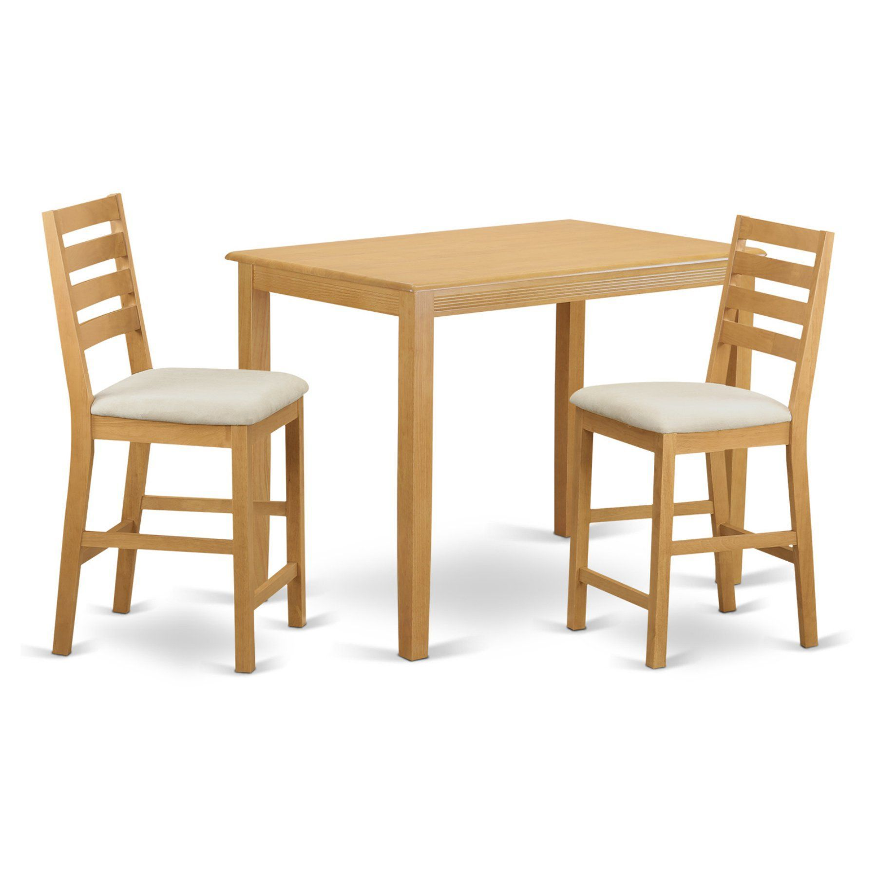 east west furniture yarmouth 3 piece high ladder dining table set