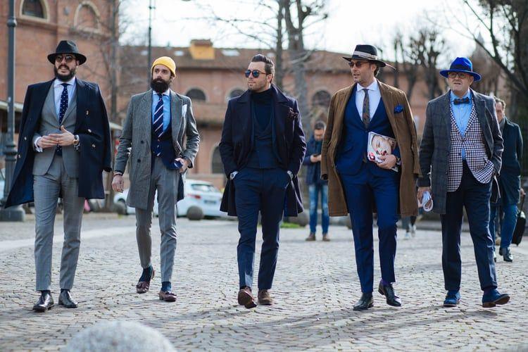 Italian elegance.  Top italian street style look.  Pitti Uomo 89 Day 1