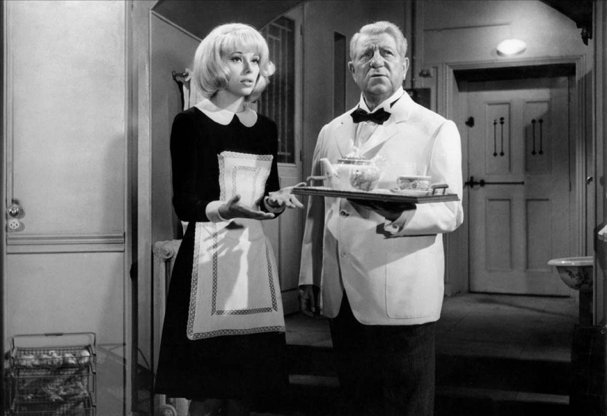 Mireille Darc and Jean Gabin