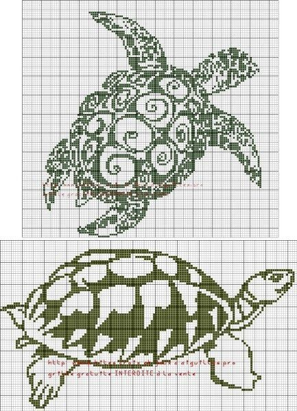 Tribal Turtle Cross Stitch Patterns