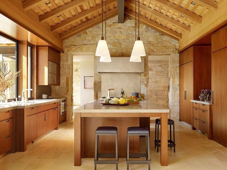 Fesselnd #Küche Deko Stein Für Die Wände Der Küche In 49 Beispielen #Deko