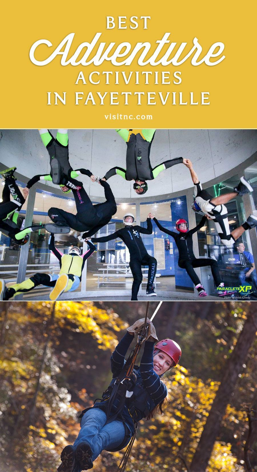 Plan A Vacation Full Of Adventure Including Skydiving And Zip Lining During Your Visit In 2020 Cities In North Carolina Fort Bragg North Carolina North Carolina Travel