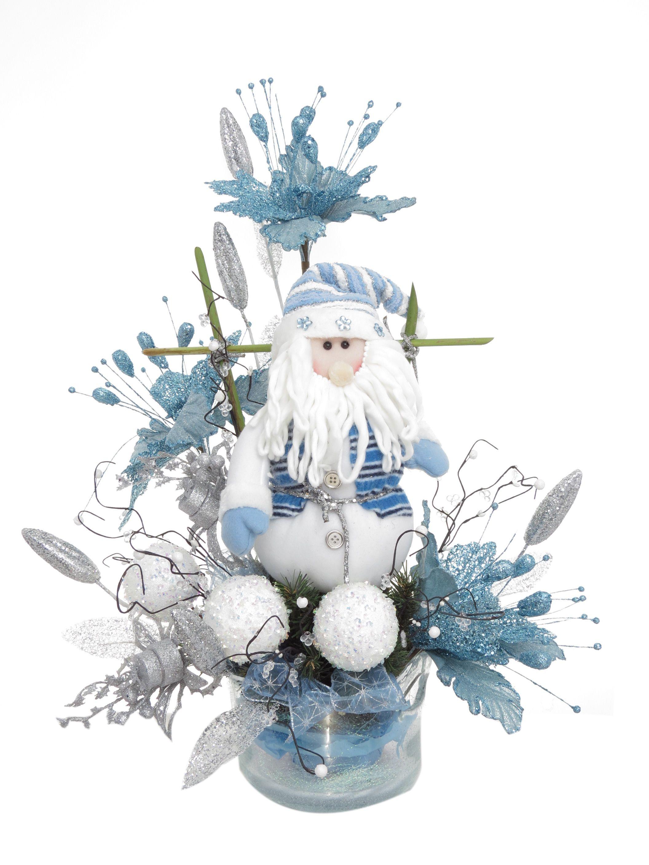 Papá Noel BLue Diseño navideño especial para cualquier lugar de la casa u…