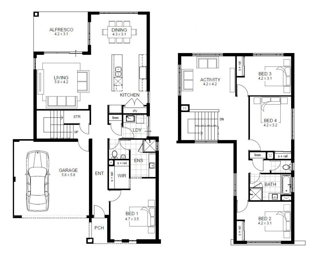Luxury Sle Floor Plans 2 Story Home New Home Plans Design House Plans New House Plans Two Storey House Plans