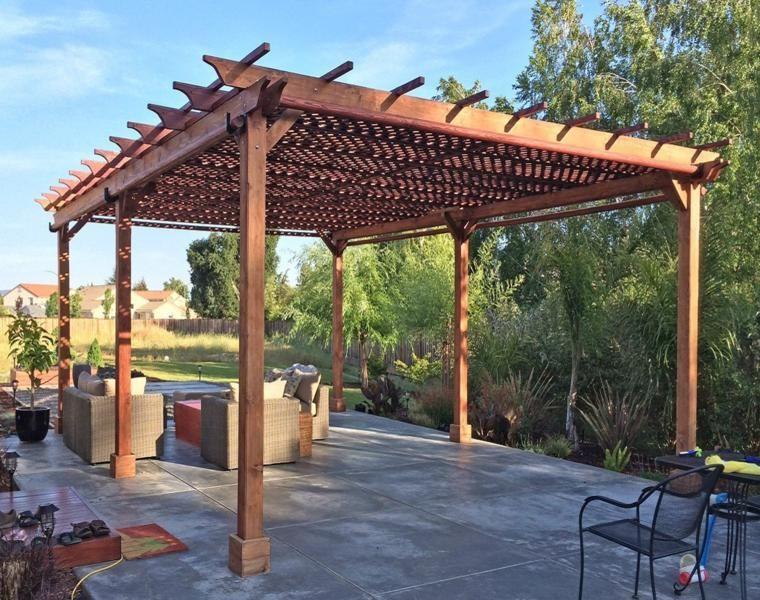 Pergolas de hierro para coches amazing techos cubiertas - Pergola para coche ...