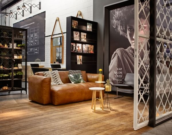 Hair salon r in genk belgium. concept & design by creneau