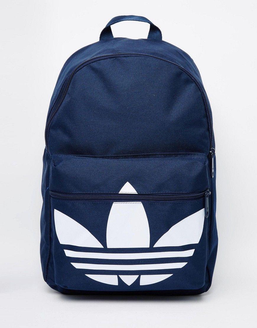 13b58fff2bb8 De sejeste adidas Originals Classic Backpack - Blue adidas Originals  Rygsække til Herrer i fantastisk kvalitet