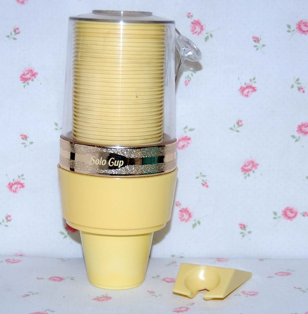 Vintage Yellow Dixie Cups Dispenser Cups Bathroom Wall Mount Vintage Bath Bathroom Soap Vintage Yellow