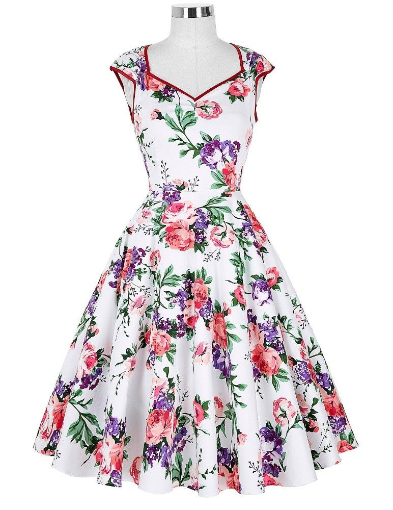 f30509994e4024 Blümchenkleid Vintage Kleid Online