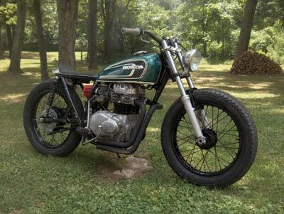 Photo of CB360 Green Cafe Tracker:Gomicks Motorcycle Blog  www.gomick…