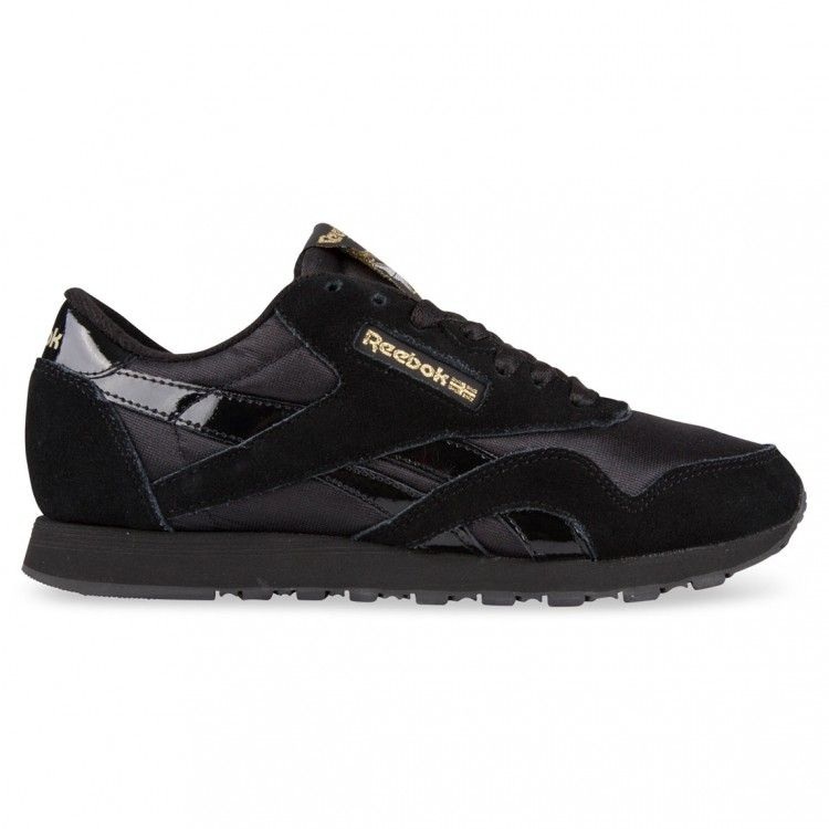 reebok classic black and gold