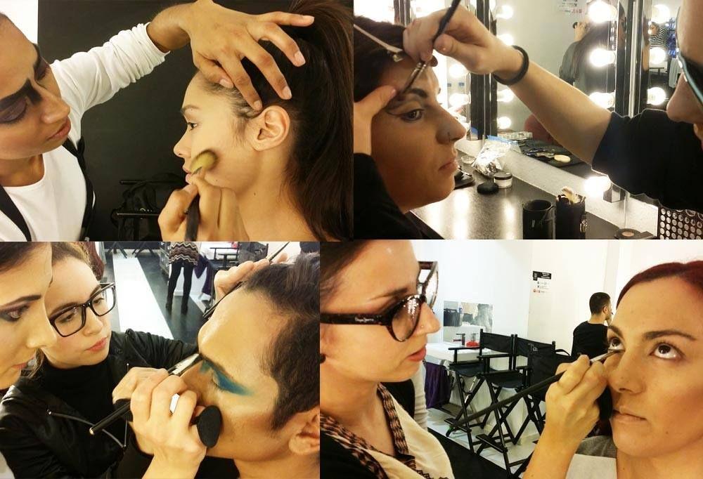 Maquillaje para fotografía b/n en el curso de maquillaje profesional de 10 meses. Estilo libre, en Colors-Up Escuela de Maquillaje Profesional.
