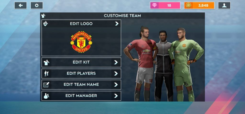Manchester United Kits For Dls 20 As Dls 20 Requires Brand New Kits We Are Here With Manchester United All New 201 In 2020 Manchester United Logo Manchester Team Names