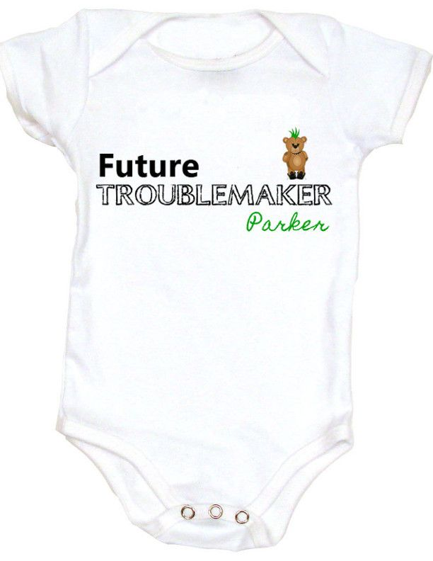 a7d6118a Personalized baby onesie - add a name at no additional cost! Cool, badass  and Geeky onesies. Unique baby shower gift.
