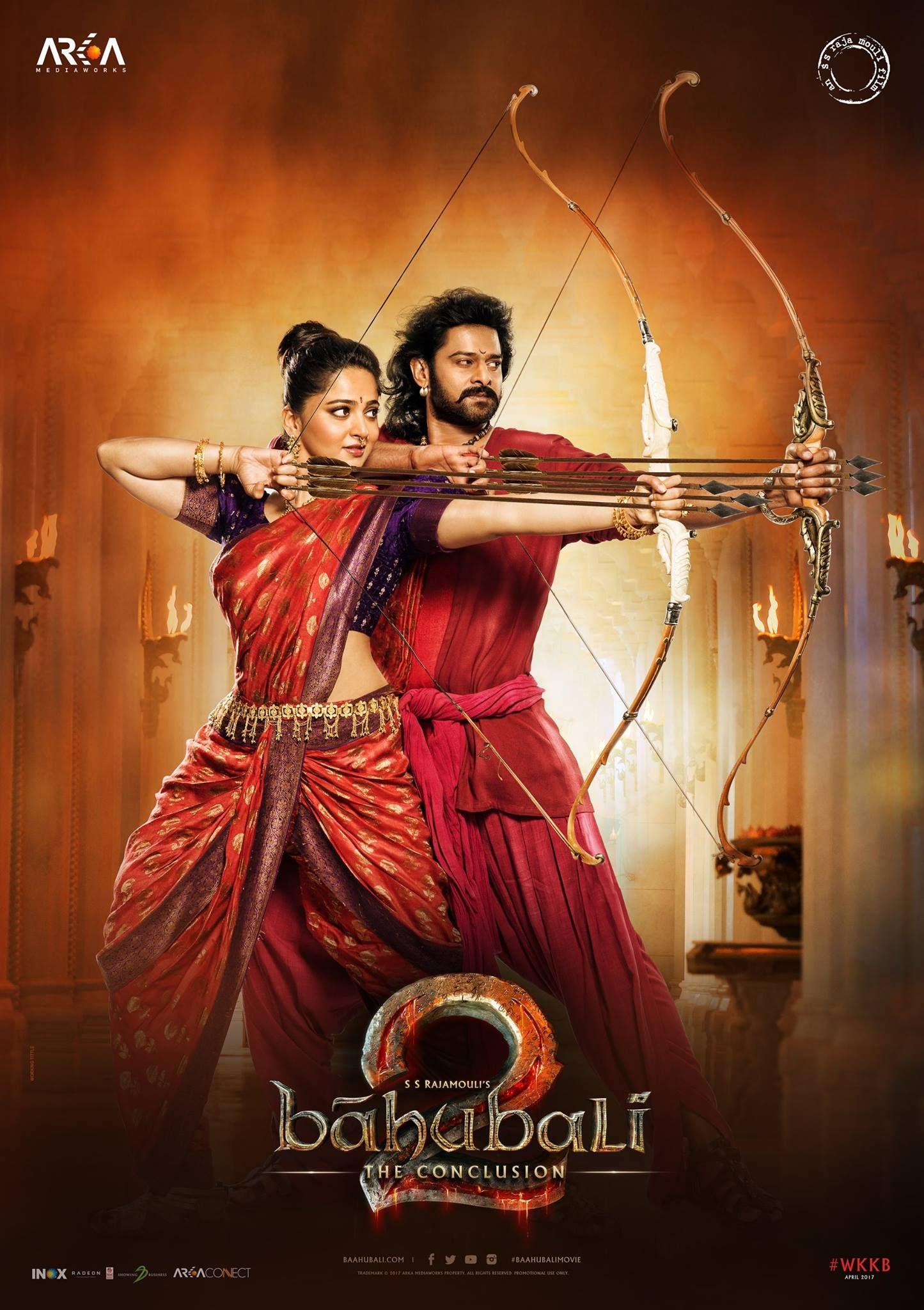 Bahubali 2 Official Poster Prabhas Anushka Shetty Rana Daggubati Tamannaah Directed By S S Rajamouli Bahubali Movie Bahubali 2 Full Movie Full Movies