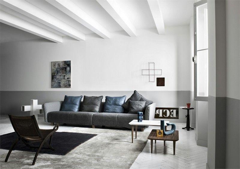 Sofa In Grau 50 Wohnzimmer Mit Designer Couch Mit
