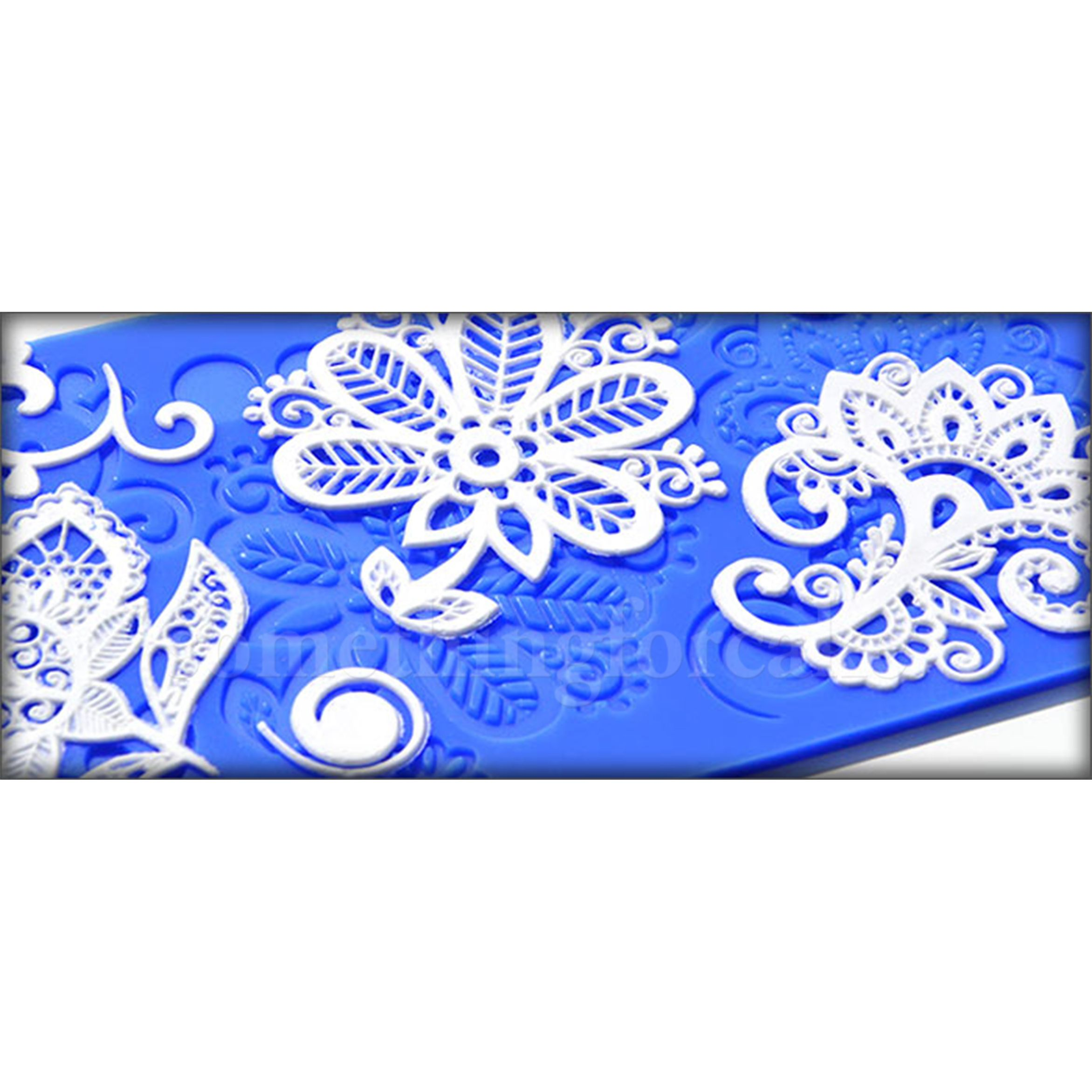 This Lovely Mat Has Four Large Designs For Lacy Fantasy